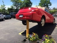 07 convertible on a pole parking fail